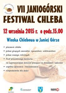 plakat VII festiwal chleba